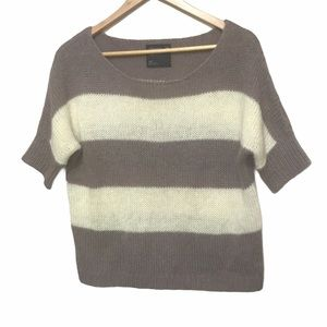 American eagle wool/mohair short sleeve knit S